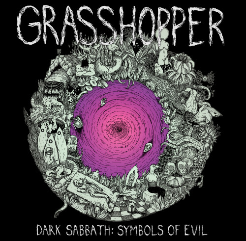 grasshopper - dark sabbath symbol of evil album cover