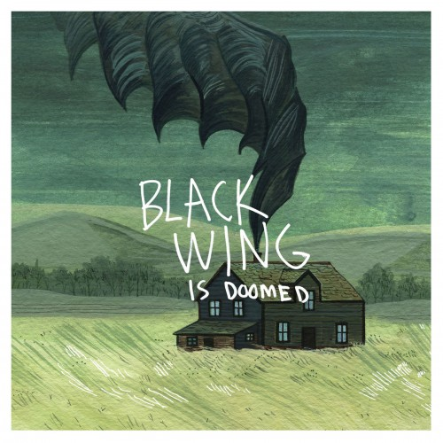 black wing is doomed album cover