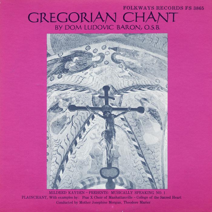 gregorian chant album cover